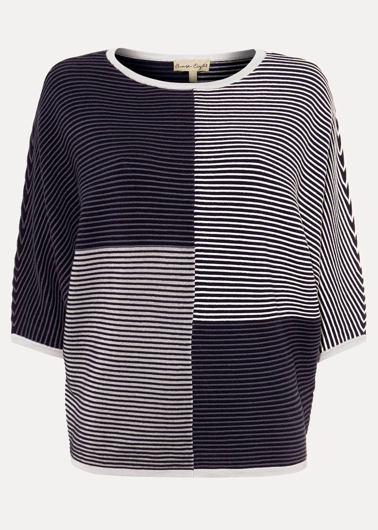 Phase Eight caila Colourblock Pull en maille Pull-Over Bleu Marine XS RRP75