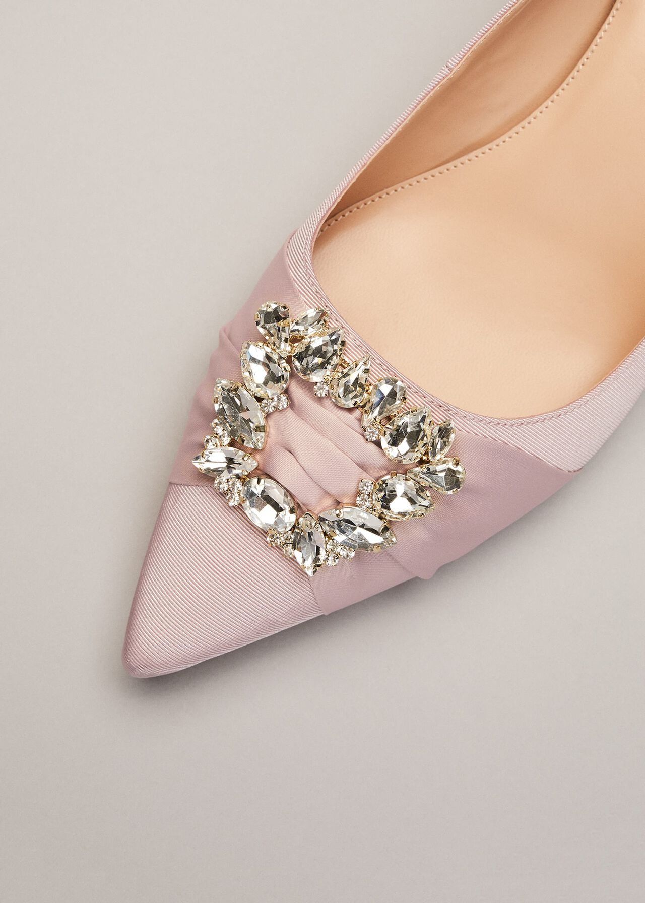 Dasha Grosgrain Jewelled Kitten Heel