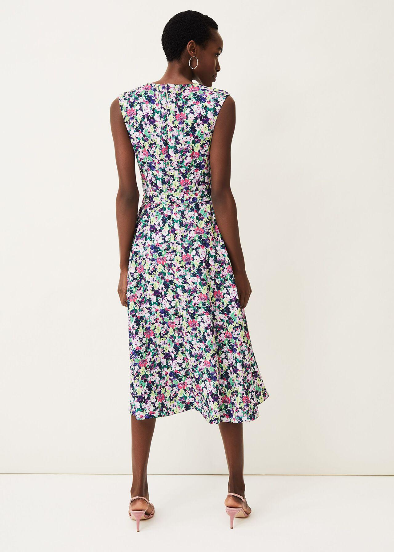 Arya Floral Frill Hem Dress