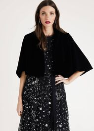 Amalie Velvet Cape Jacket