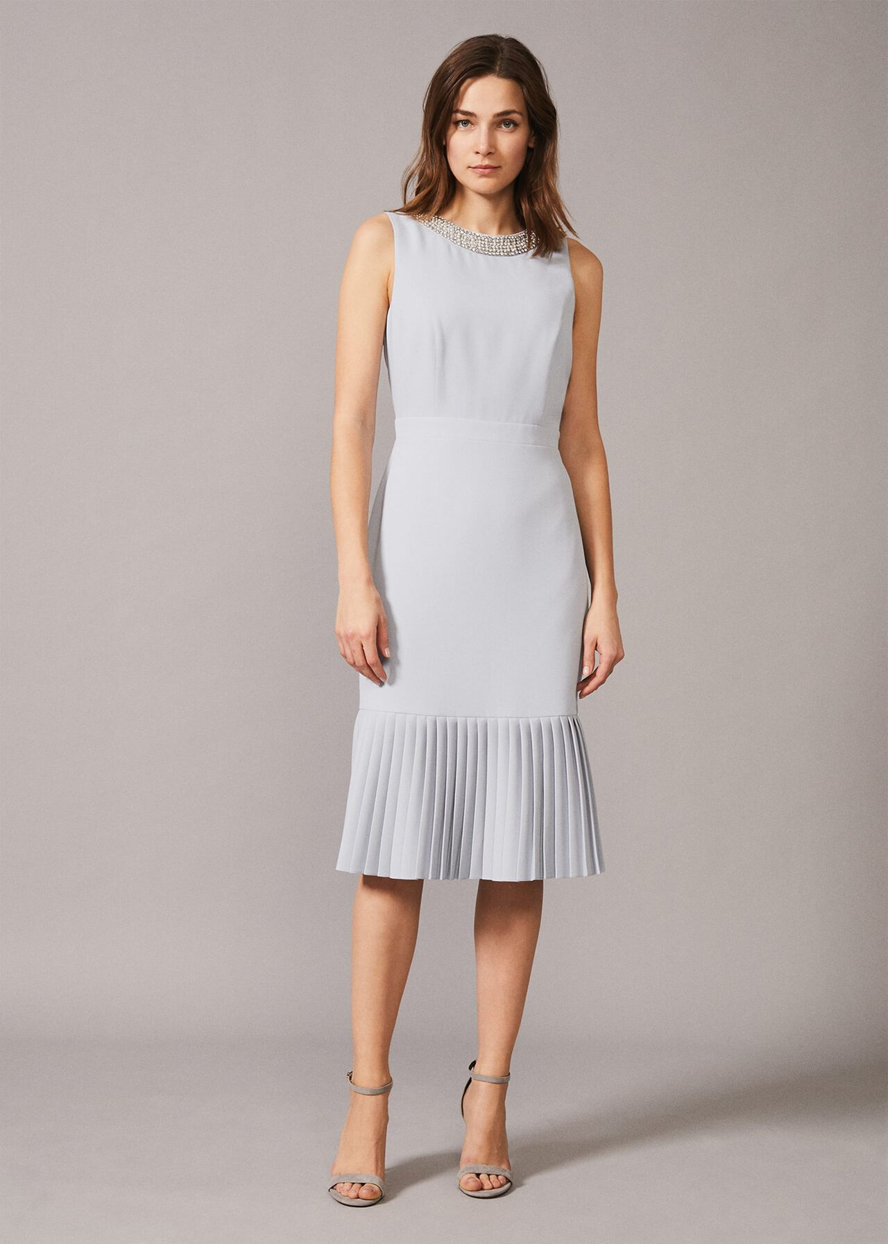 Nikia Pleated Hem Dress