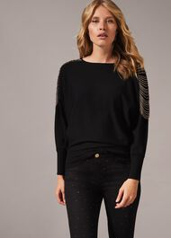 Claudia Chain Shoulder Knit