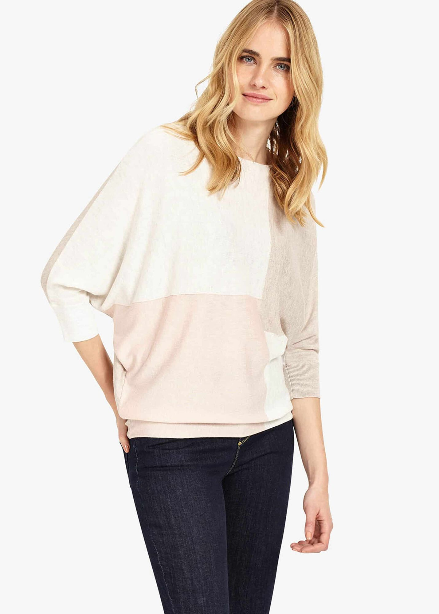 0d24a2dcff8 Becca Colour Block Batwing Jumper   Phase Eight   Phase Eight