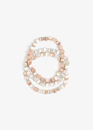 Clara Stretch Bead Triple Pack Bracelets