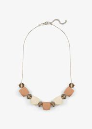 Melinda Coated Bead And Facet Necklace