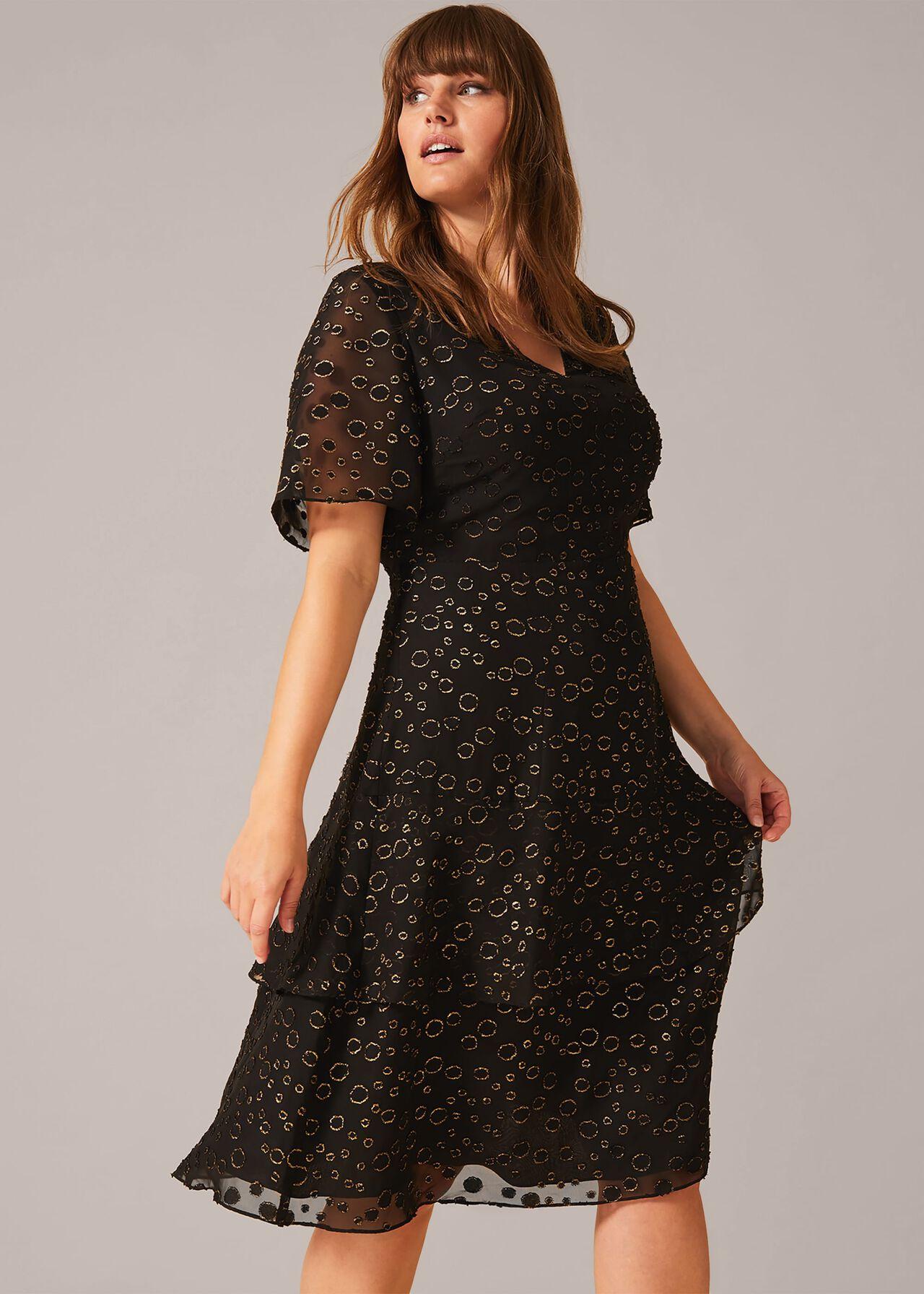 Sammy Foil Spot Dress by Phase Eight