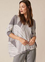Cora Abstract Print Knit Top