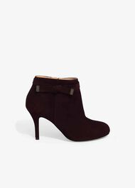 Stephanie Leather Tie Side Boots