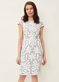 Isobel Tapework Lace Fitted Dress