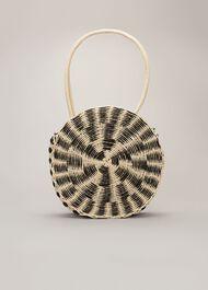Sylvia Stripe Straw Bag