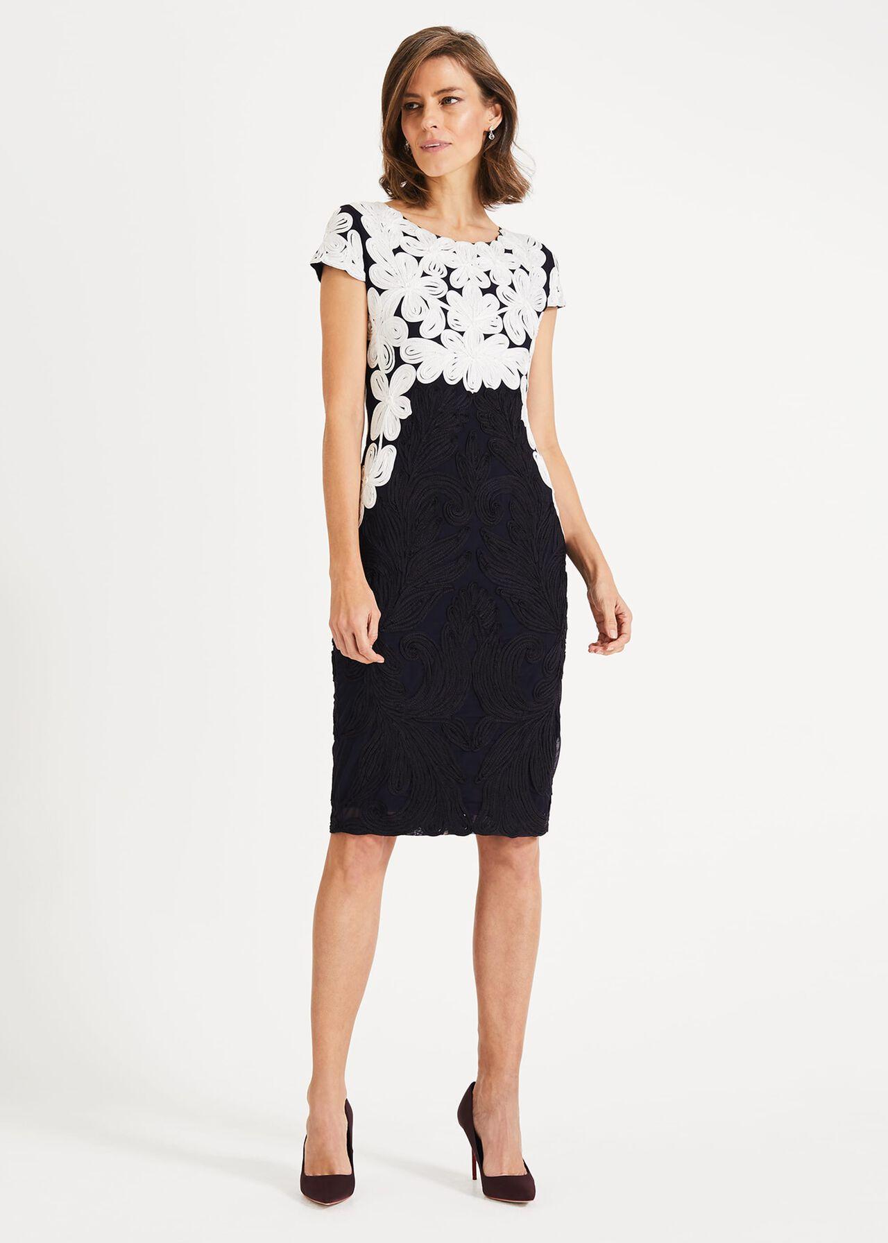 Catheleen Tapework Lace Dress