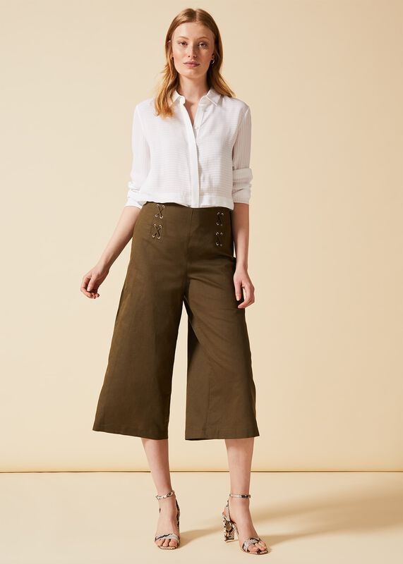 684bc298209a8 Trousers For Women | Wide Leg, Cropped & Linen Trousers | Phase ...