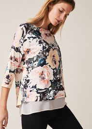 Olena Rose Double Layer Top