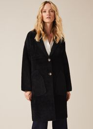 Floressa Fluffy Knit Coat