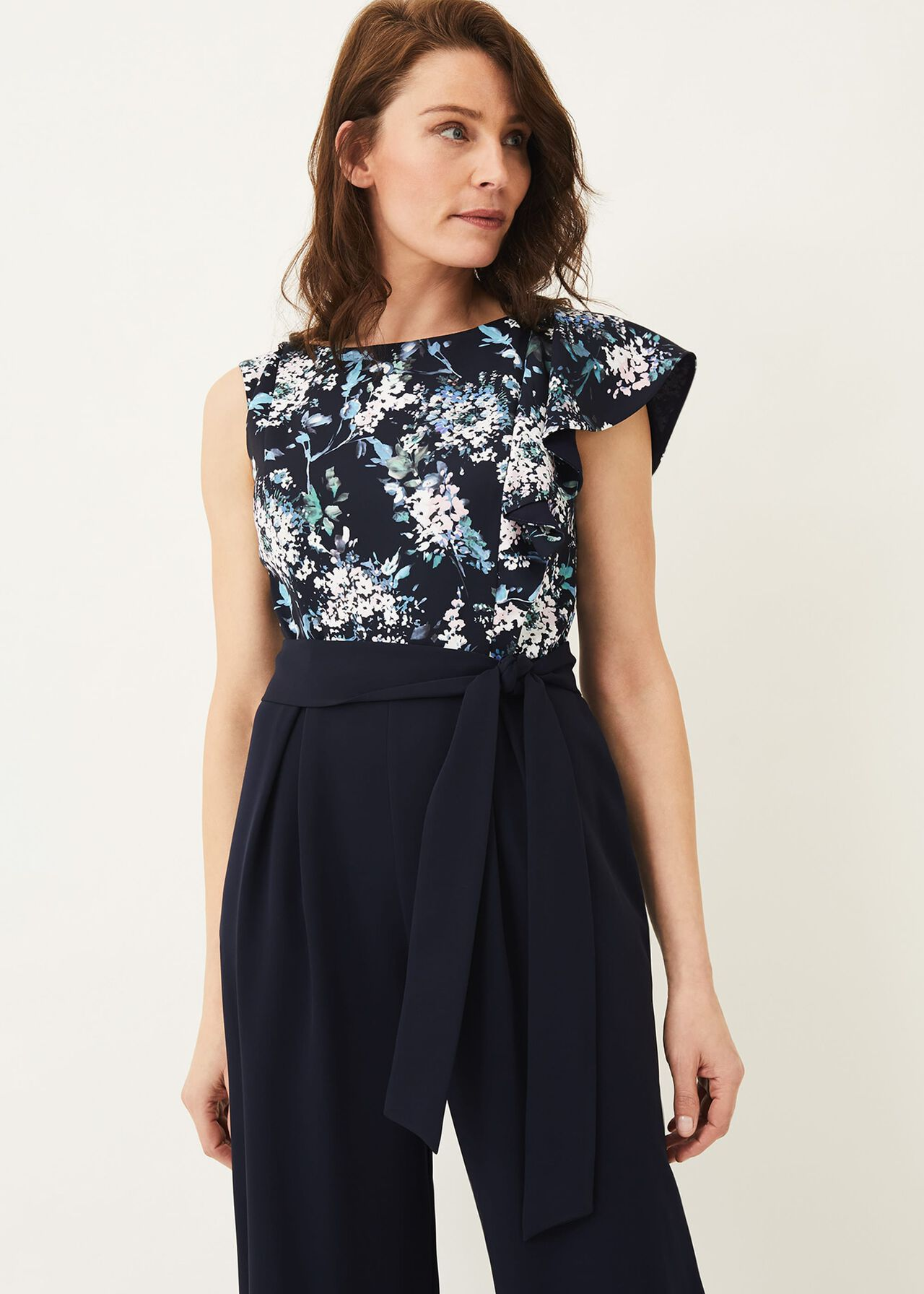 Casey Floral Bodice Tapered Jumpsuit