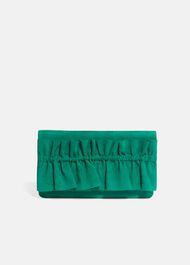 Romy Ruffle Clutch Bag