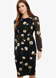Sorina Printed Floral Dress