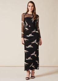 Astrid Embroidered Bird Dress