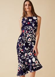 Isla Printed Asymmetric Dress