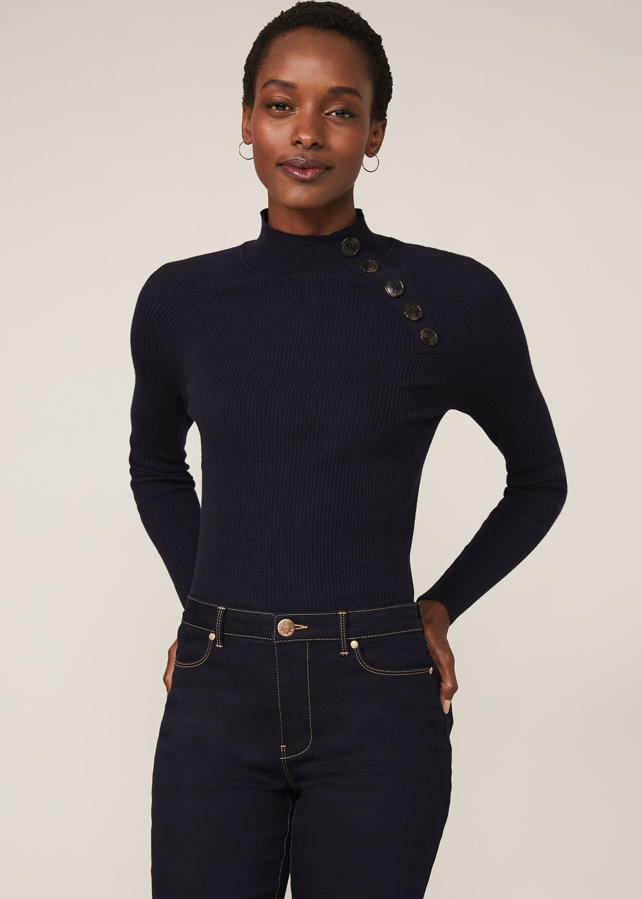 Sissi Button Knit Top
