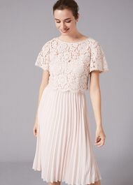 Bettina Lace Top Pleated Dress