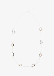 Cherie Oval Station Rope Necklace