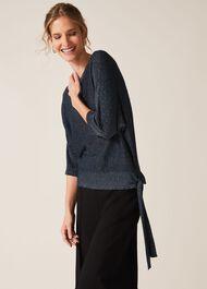 Harper Shimmer Tie Side Knitted Top