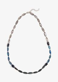 Deborah Blue Bead Long Necklace