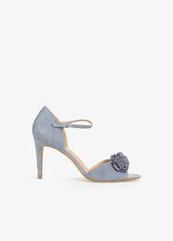 Ophelia Flower Trim Sandals