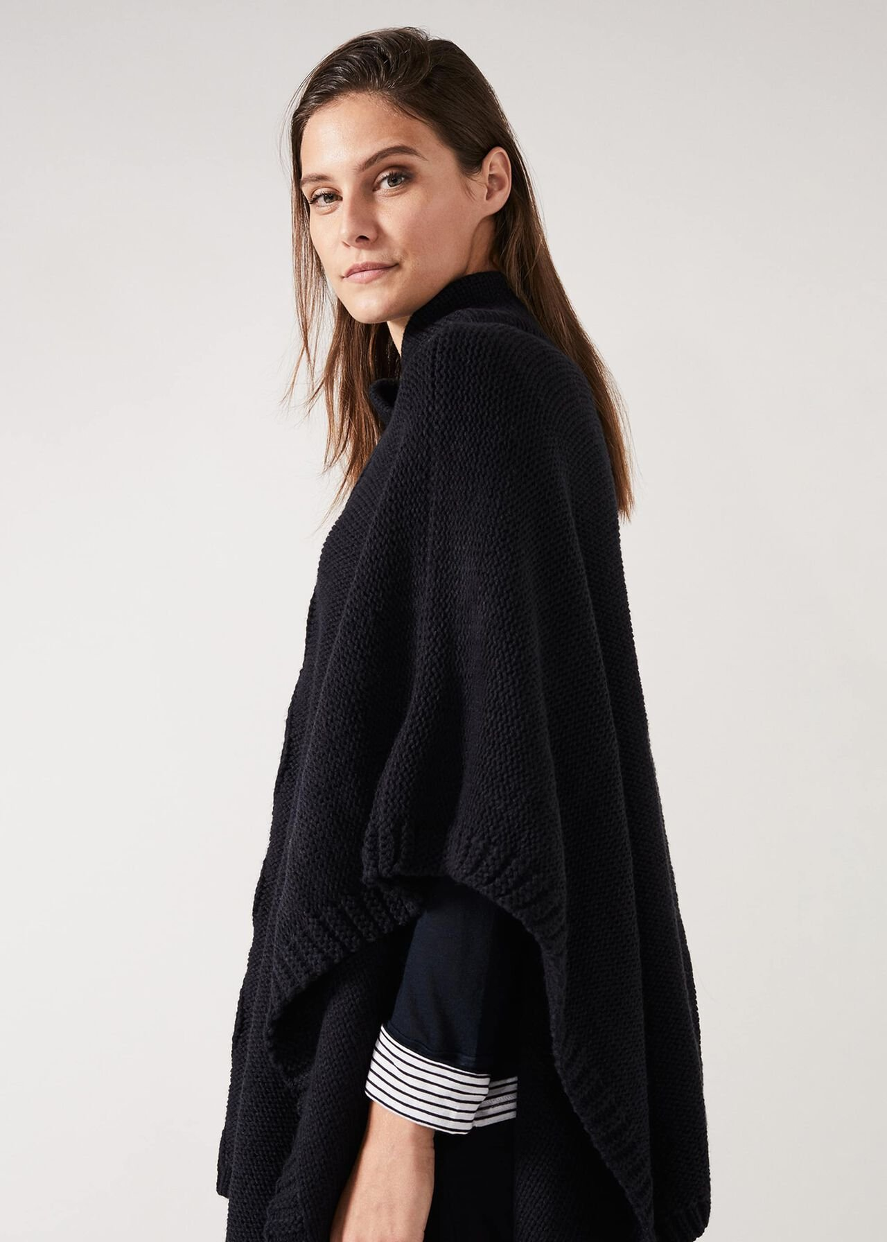 Melly Cable Knit Poncho