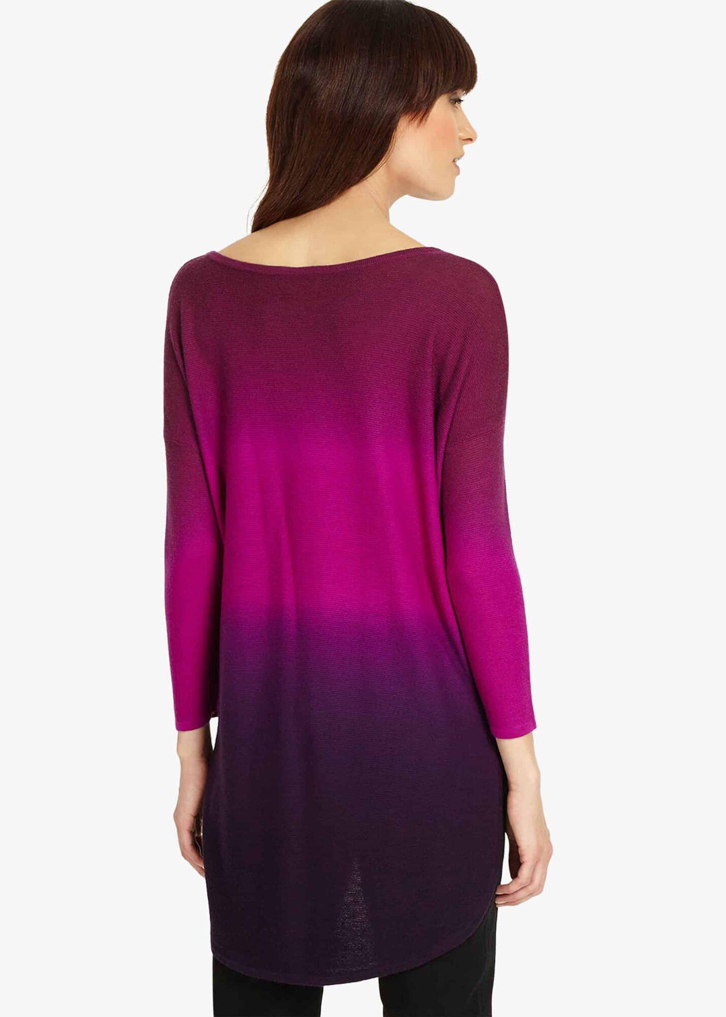 c6a8676124f Lynda Dip Dye Knit Top | Phase Eight | Phase Eight