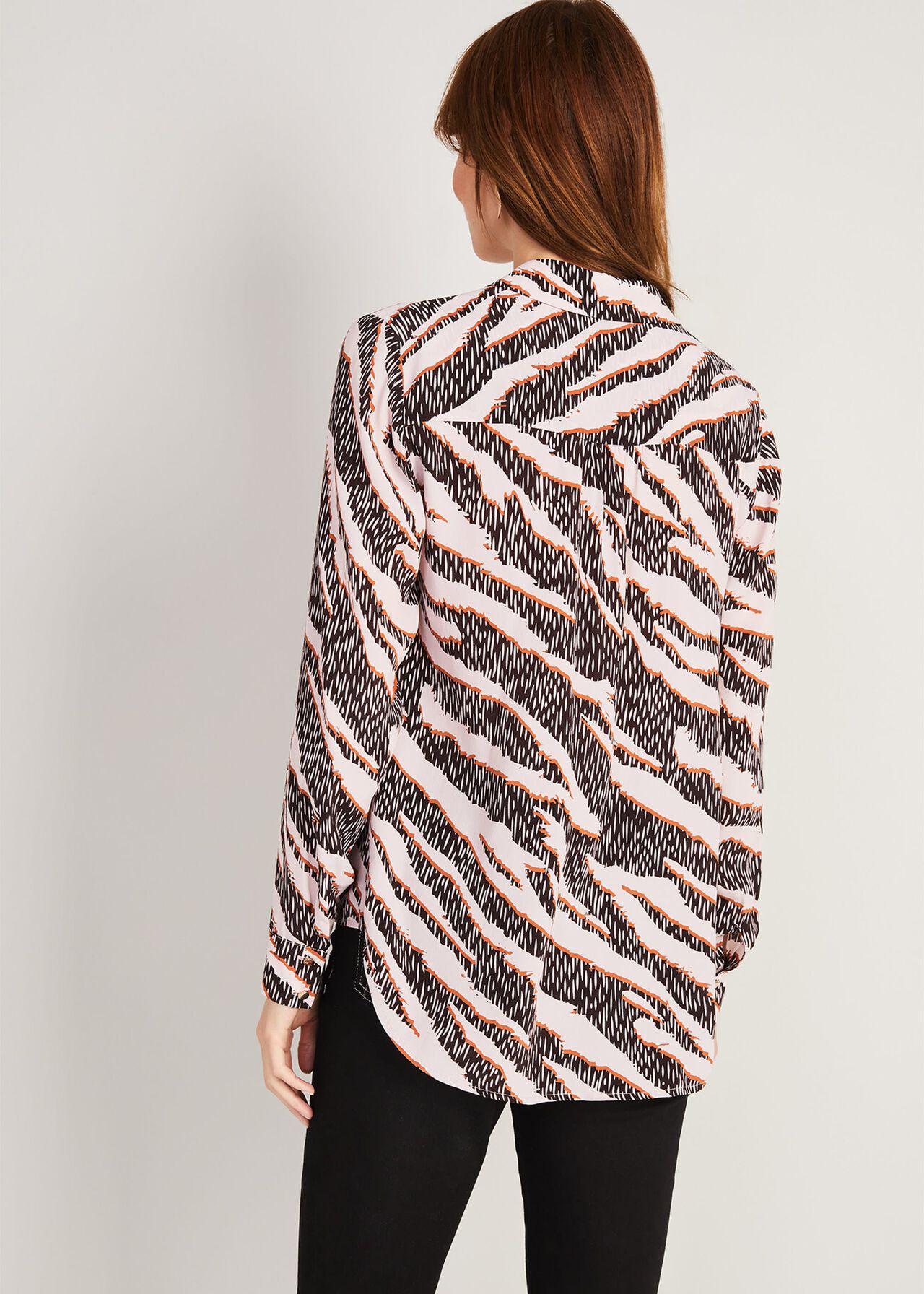 Averie Silk Blend Zebra Blouse