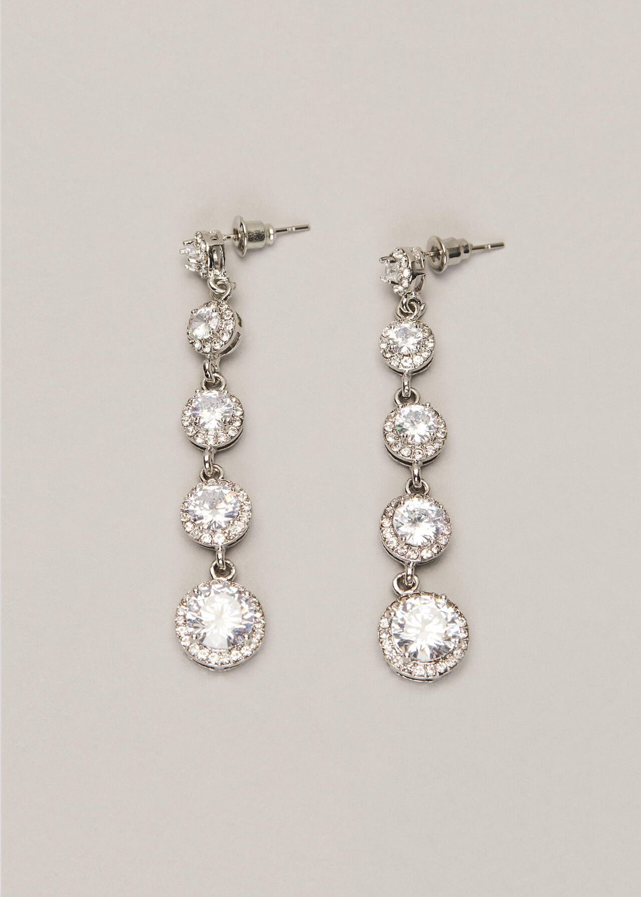 Cara Crystal Drop Earrings