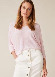 Delmi Linen Knitted Top