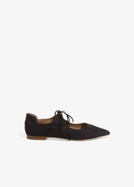 Fran Tie Front Flat Leather Shoes
