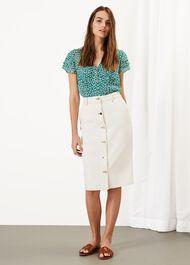 Ellama Stretch Denim Skirt