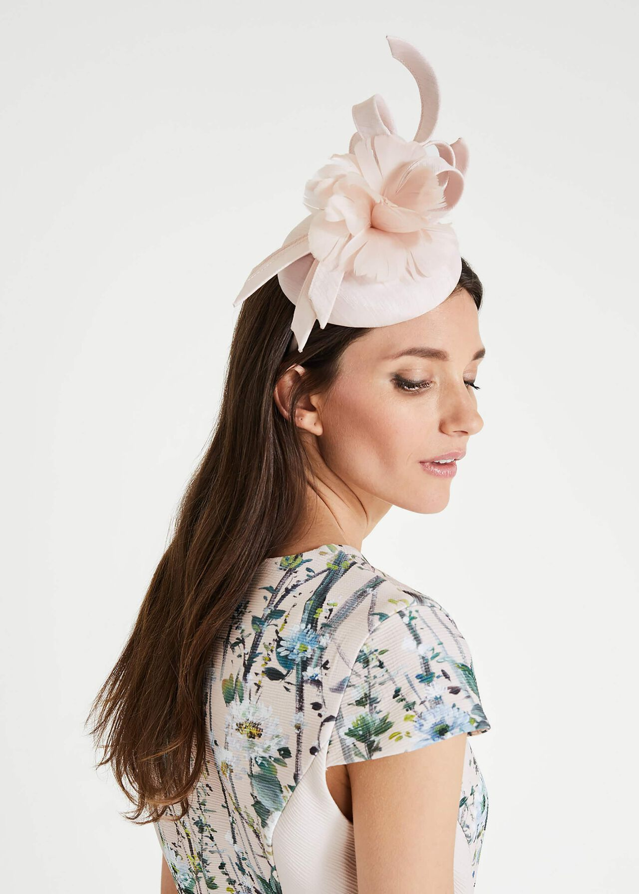 Marta Flower Pillbox Fascinator