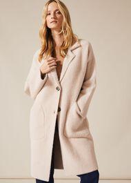 Floressa Fluffy Knit Coat