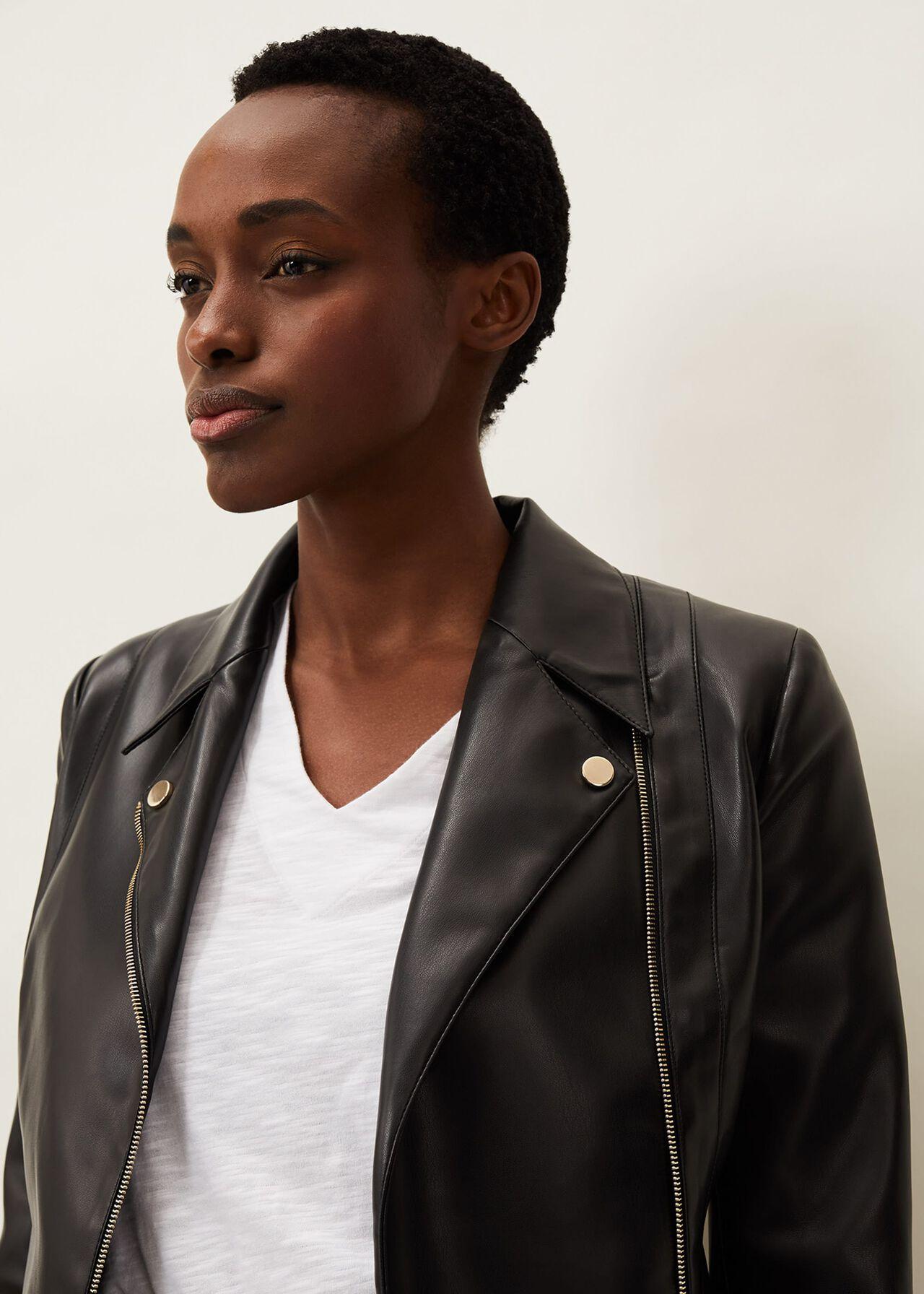 Wendie Faux Leather Jacket