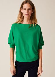 Cristine Batwing Knitted Top