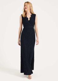 Paola Lace Fishtail Dress