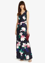 Magnolia Print Maxi Dress