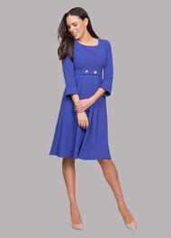 Valerie Square Neck Waist Detail Dress