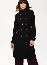 Charlie Crepe Trench Coat