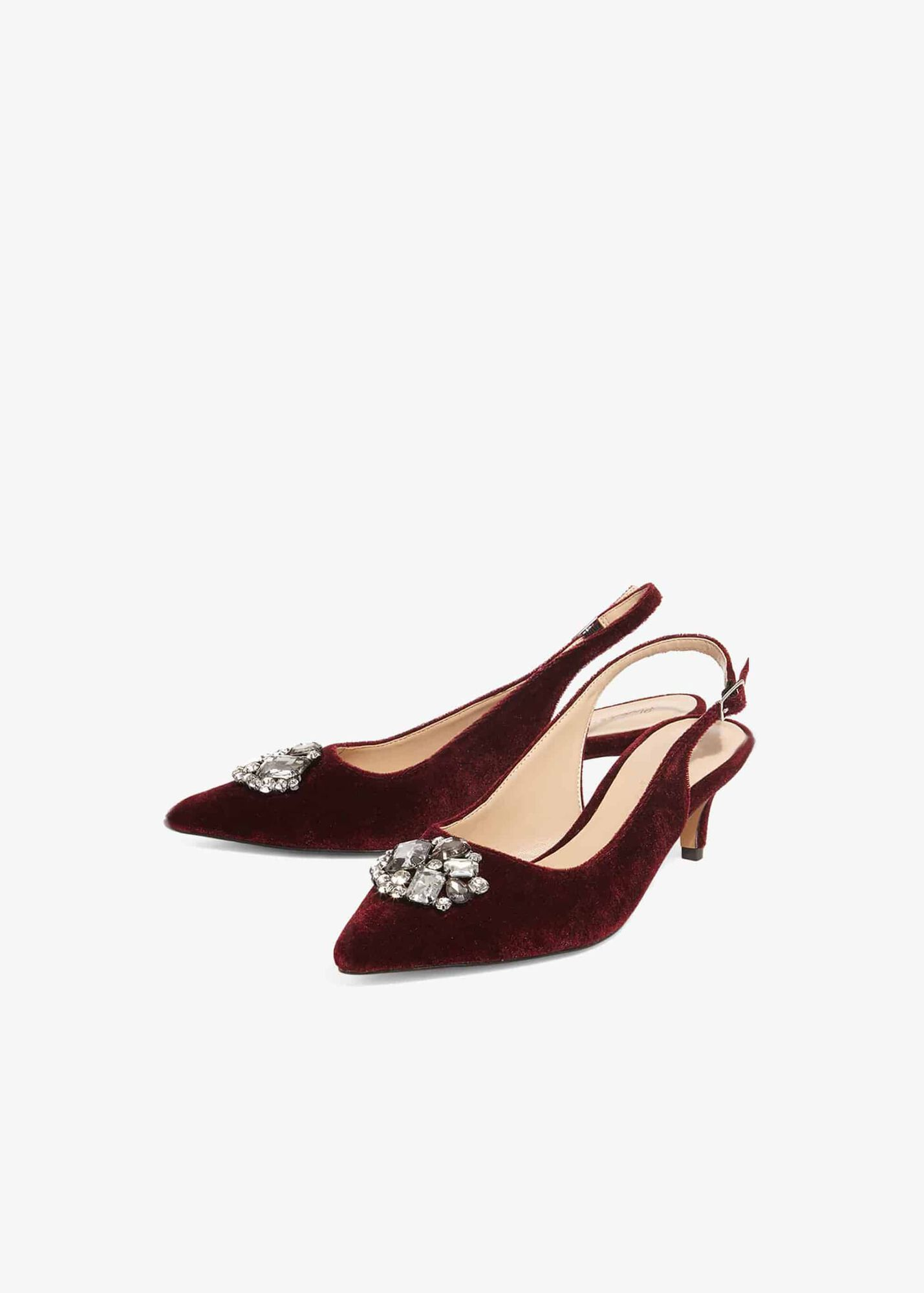 c236cc19bd5 Juliet Jewel Kitten Heel Slingback Court | Phase Eight | Phase Eight