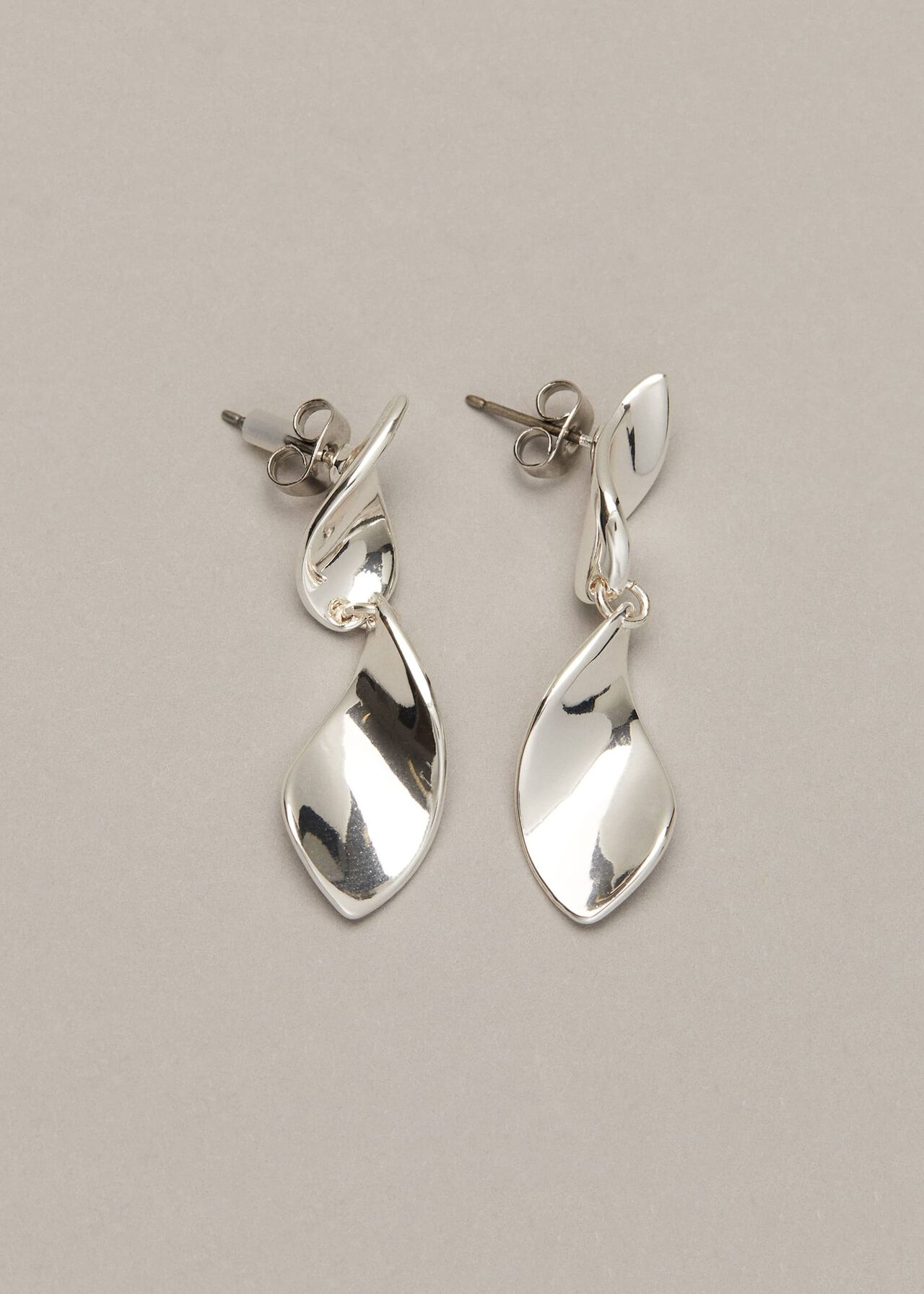 Cam Twisted Leaf Drop Earrings