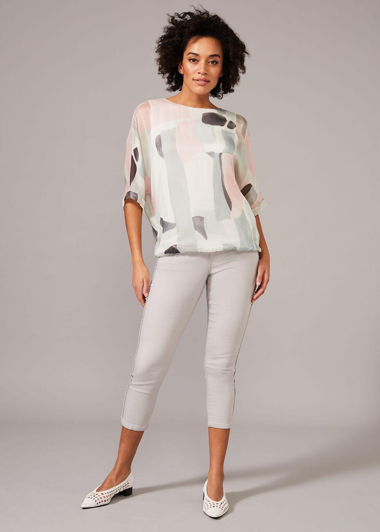 Tokyo Print Silk Blouse