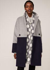 Emery Colourblock Wool Coat