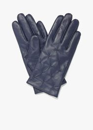 Stevie Leather Pintuck Gloves