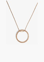 Gwen Pave Disc Necklace